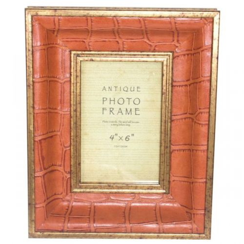 11302 Porta Retrato Pu Laranja Croco