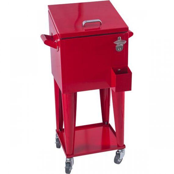 68012 Cooler Rodizio Vermelho Liso