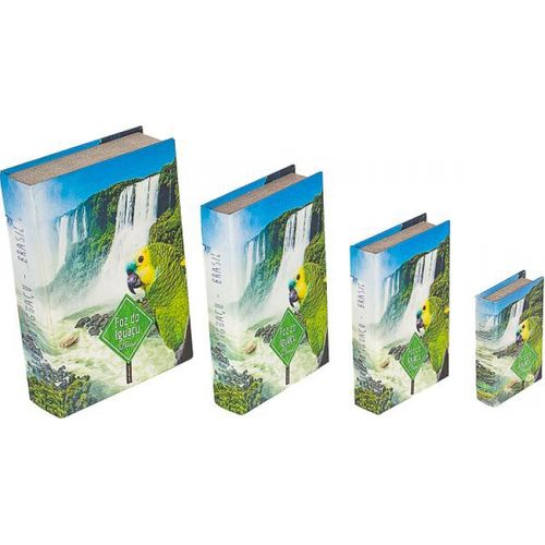 11263 BOOK BOX CJ 4PC PAPAGAIO FOZ D O IGUACU FULLWAY 30x21x7cm