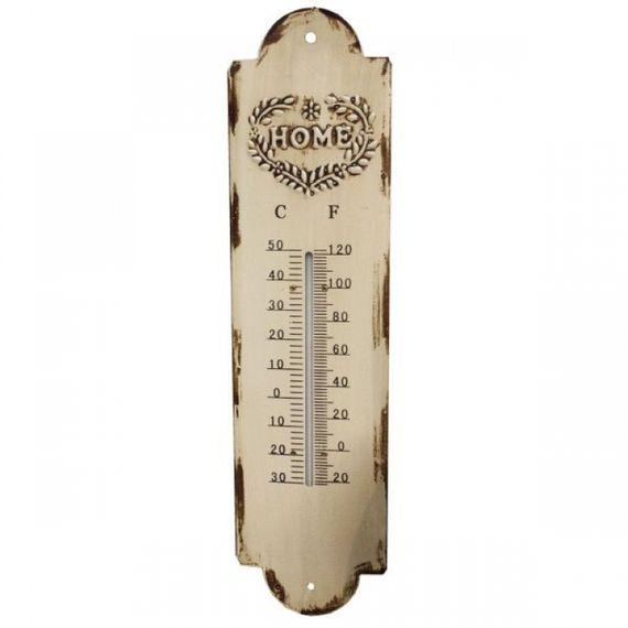 19208 Termômetro em Metal Branco Home