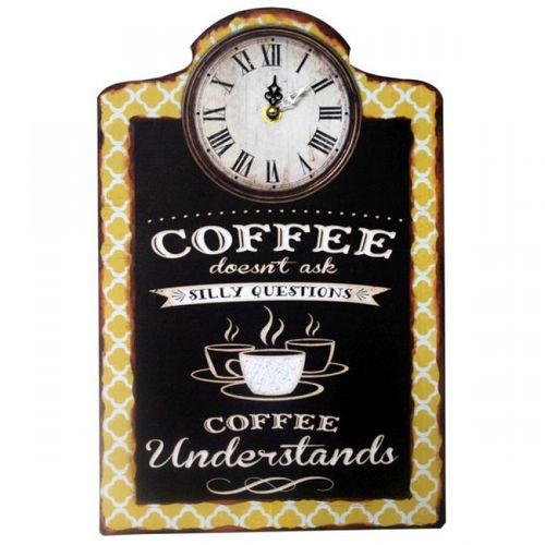 2333 Relógio Coffe Com Quadro Escritório