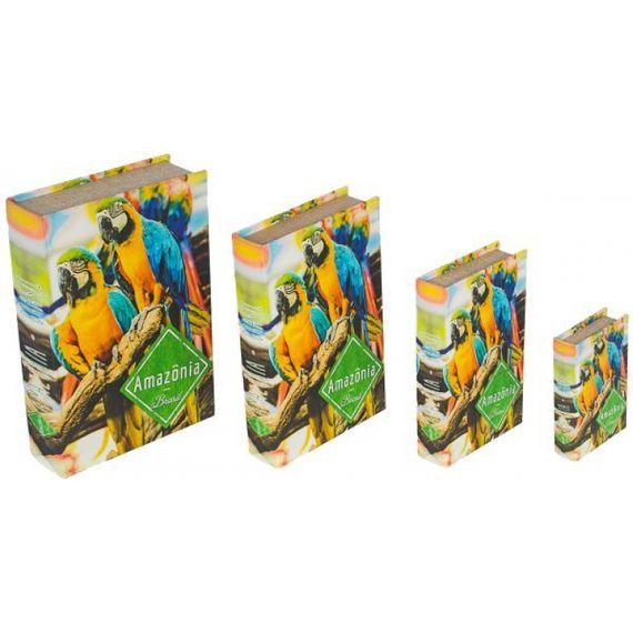 11261 BOOK BOX CJ 4PC ARARAS AMAZONIA FULLWAY 30x21x7cm
