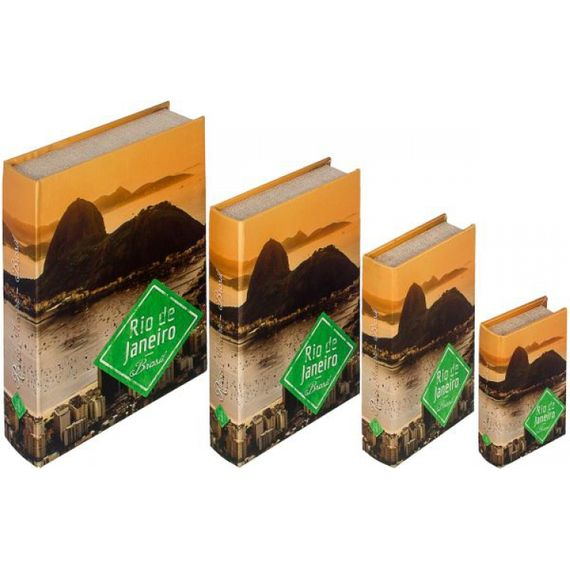 11266 BOOK BOX CJ 4PC SEDA PAO DE ACUCAR RJ FULLWAY 30x21x7cm