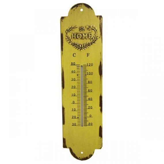 19207 Termômetro em Metal Amarelo Home