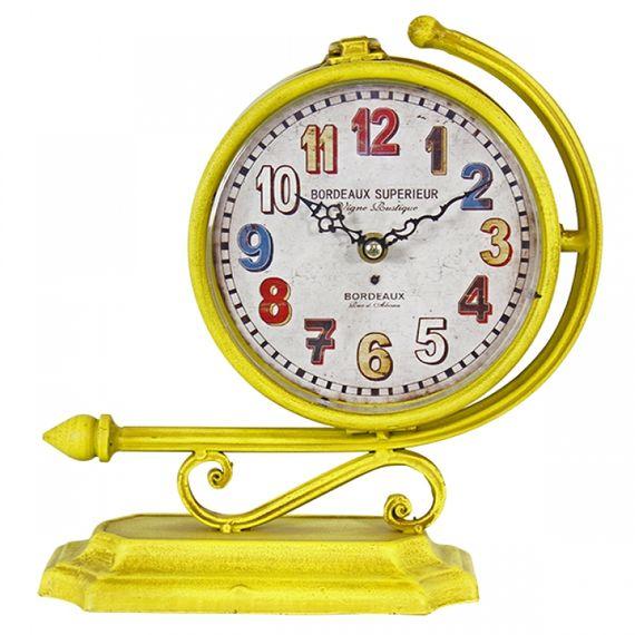 2348 Relógio Estação Amarelo 2 Faces