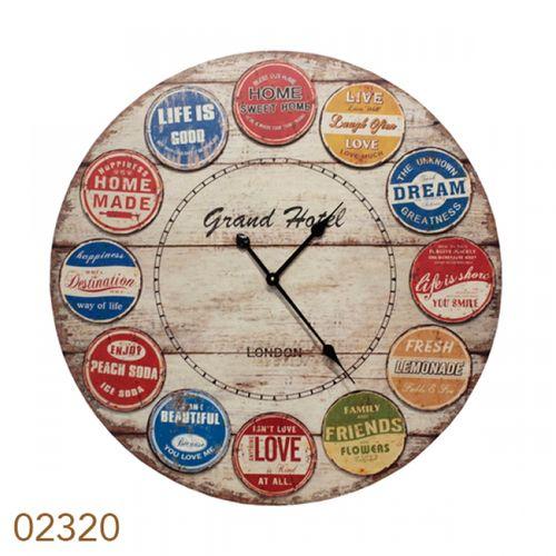 2320 Relógio MDF Rotulos Colorido
