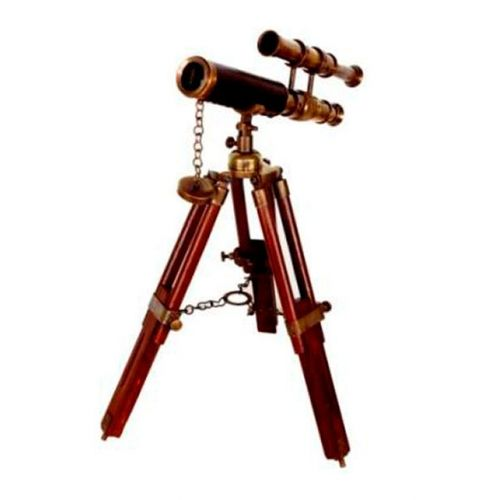 36115 Telescópio de Madeira e Bronze