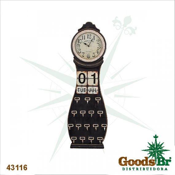 43116 Relógio / Calendar Parede Madeira Com Gancho