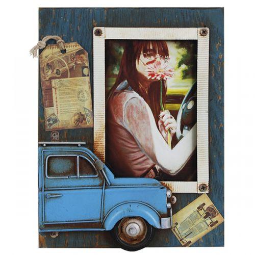 47186 Porta Retrato com Fusca Azul