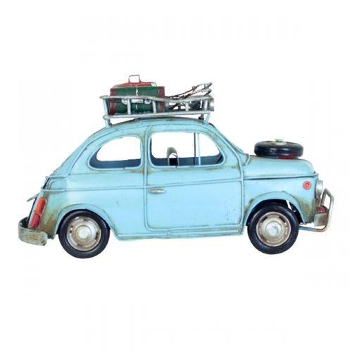 47190 Carro Azul em Metal com Bagagem