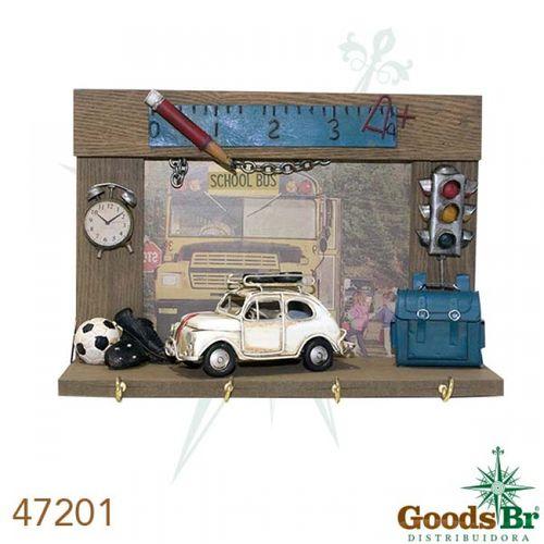 47201 Gancheira Fiat 500 em Metal 4 Ganchos