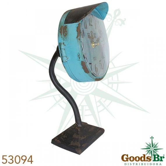 53094 Relógio Mesa Ferro Azul Envecido