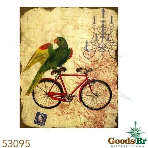 53095 Tela Pássaro Bike Vermelha