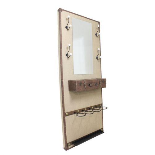 31287 Chapeleira Com Espelhos e Gaveta Gancho