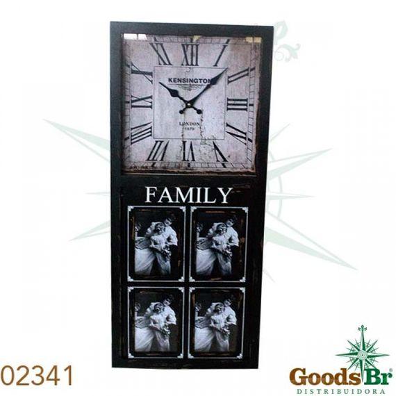 2341 Relógio Parede Com Porta Retrato 4 Fotos