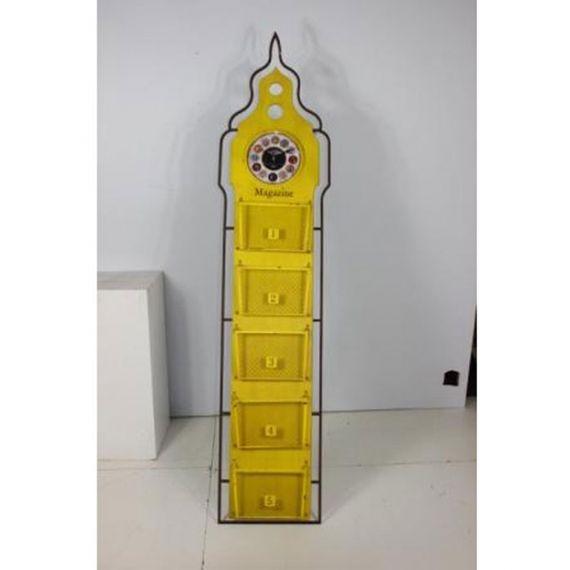 2345 Relógio Com Revisteiro Big Chão Amarelo