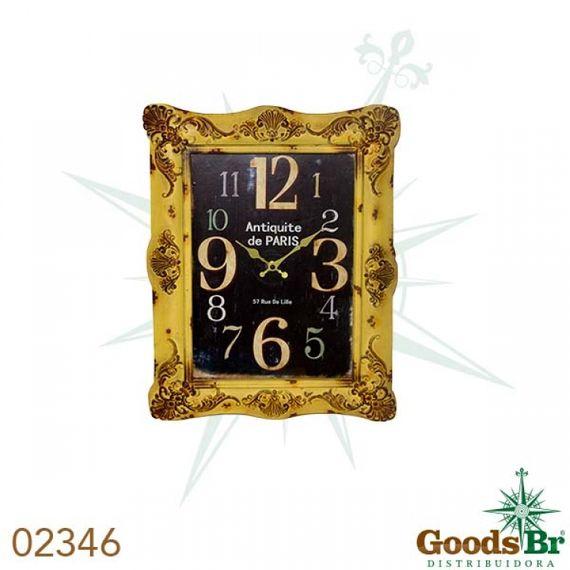 2346 Relógio Mold Amarelo Retangular