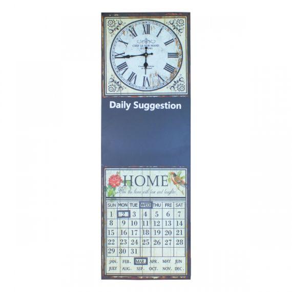 2327 Relógio Com Calendário e Lousa