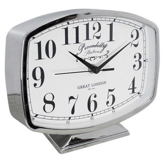 135017 Relógio de Mesa Belle Silver