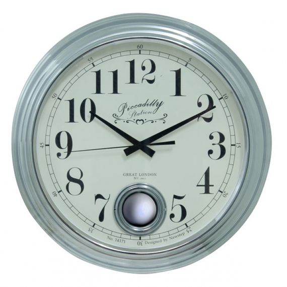 135007 Relógio de Parede Edith Silver