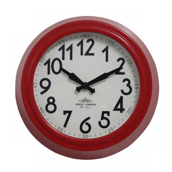 135024 Relógio de Parede Sally Red
