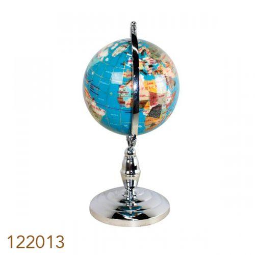 122013 Globo de Parede Blue Silver Mini