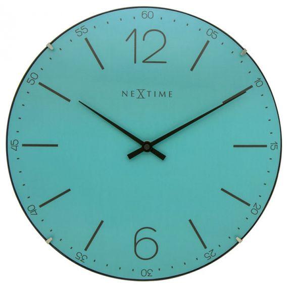 153035 Relógio Parede Turquesa Nextime