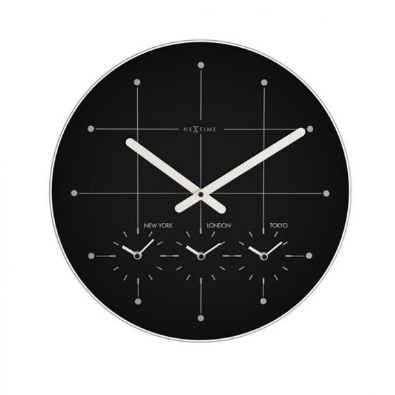 153047 Relógio Parede Big City Black Nextime