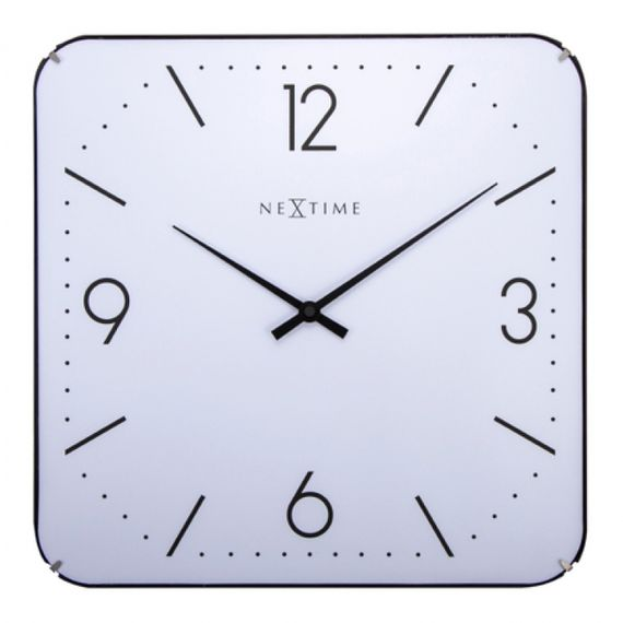 153068 Relógio Parede Square Dome White Nextime