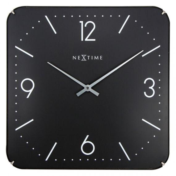 153069 Relógio Parede Square Dome Black Nextime