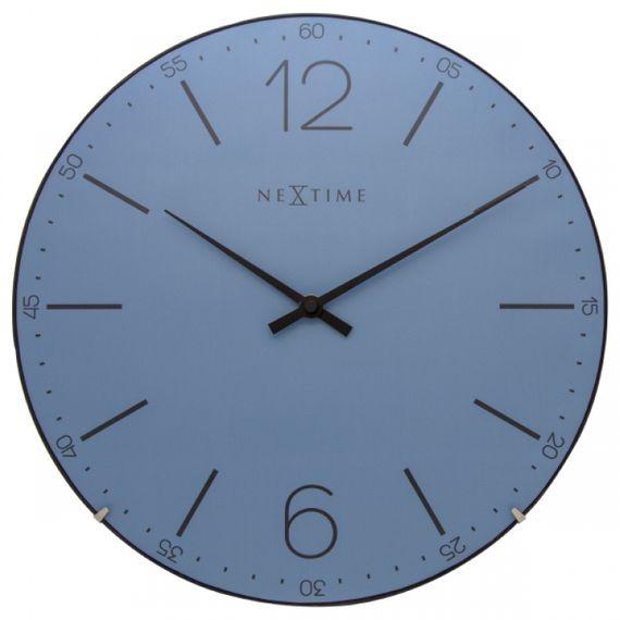 153070 Relógio Parede Index Dome Blue Nextime