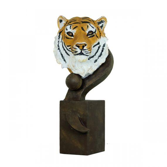 100064 Escultura Tigre Bengala Natural