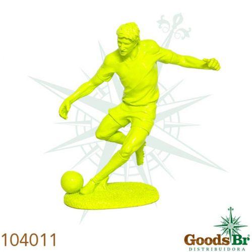 104011 Estatua Jogador de Futebol Amarelo