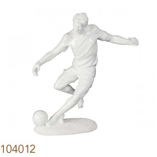 104012 Estatua Jogador de Futebol Branca