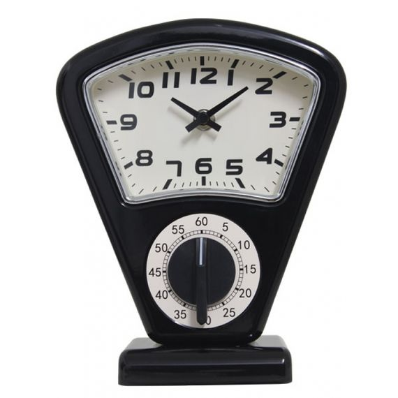 135030 Relógio de Mesa Sam Black