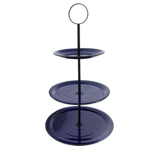 164009 Fruteira de Mesa 3 Andares Azul