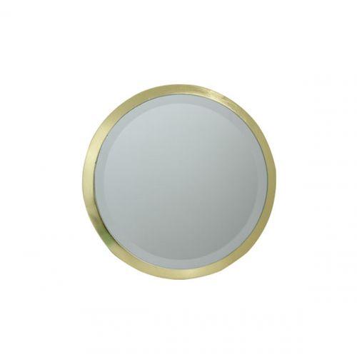 152201 Espelho Redondo MDF Gold