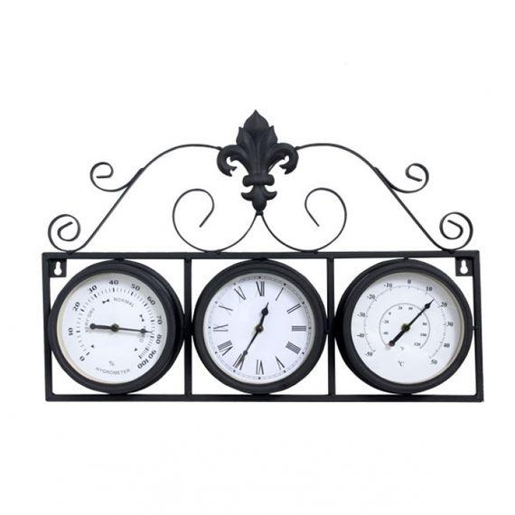 77018 Relógio Com Termômetro e Higrômetro