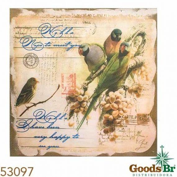 53097 Tela Impressa Linho Pássaro Post