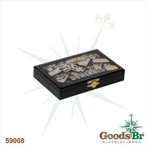59008 Caixa de Dominó em Laca Preta
