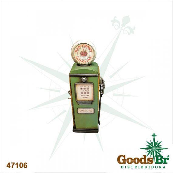47106 Bomba de Gasolina Verde em Metal