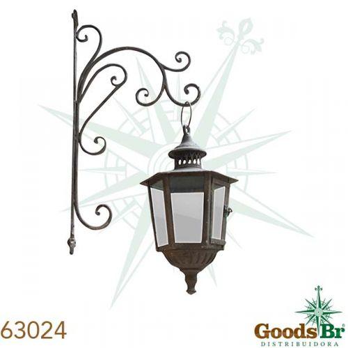 63024 Lanterna Parede Clássica Com Suporte