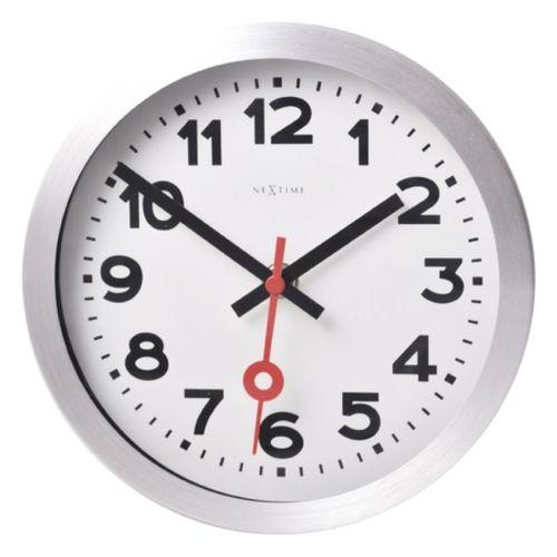 153078 Relógio Parede Station White Aluminium Nextime
