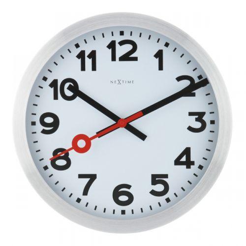 153080 Relógio Parede Station White Aluminium Nextime