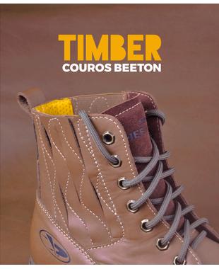 Rústico e inspirador: conheça o couro Timber canela Beeton