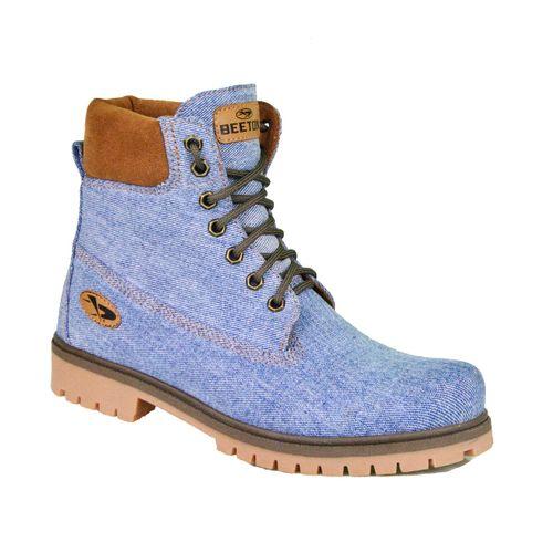 Bota Coturno Jeans Masculina Beeton Strong 407 Solado de Borracha