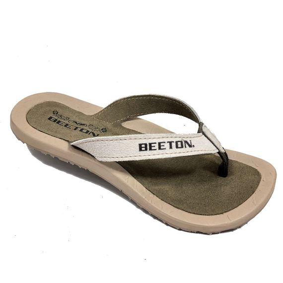 Chinelo Couro Camurça Feminino Beeton Canay 01