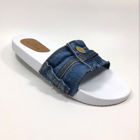 Chinelo Jeans Feminino Beeton Slide F 01