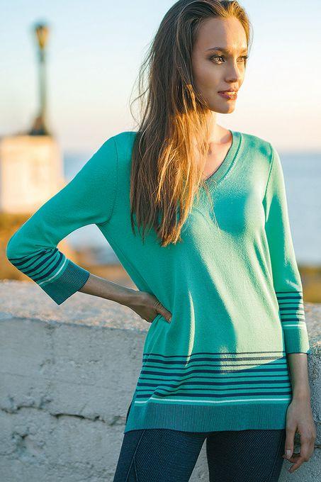 Blusa Tricô Listras Color | Bv941