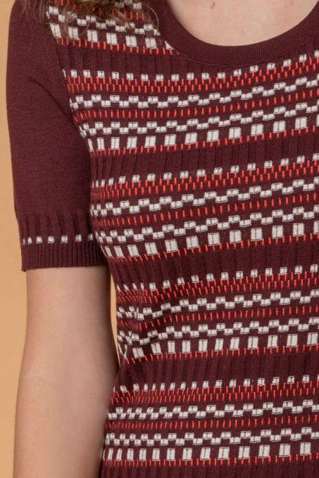 Blusa Tricô Geométrico | Twin-Set | Bi401